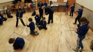 In preparation for the St Patricks Day Parade and as part of our badge work, the beavers learned how to make Tripods using Pioneering Skills.